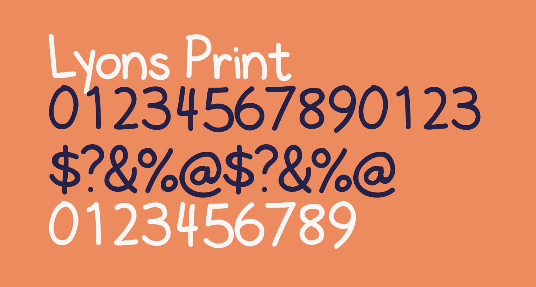 Lyons Print