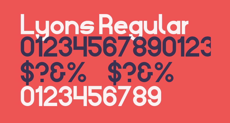 Lyons Regular