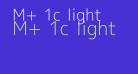M+ 1c light