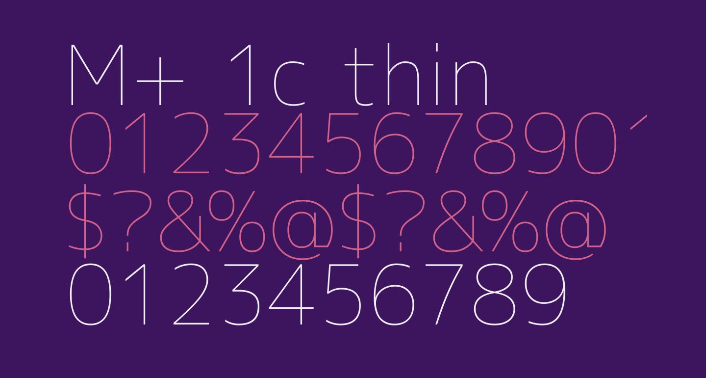 M+ 1c thin