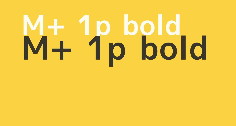 M+ 1p bold