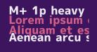 M+ 1p heavy