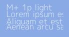 M+ 1p light