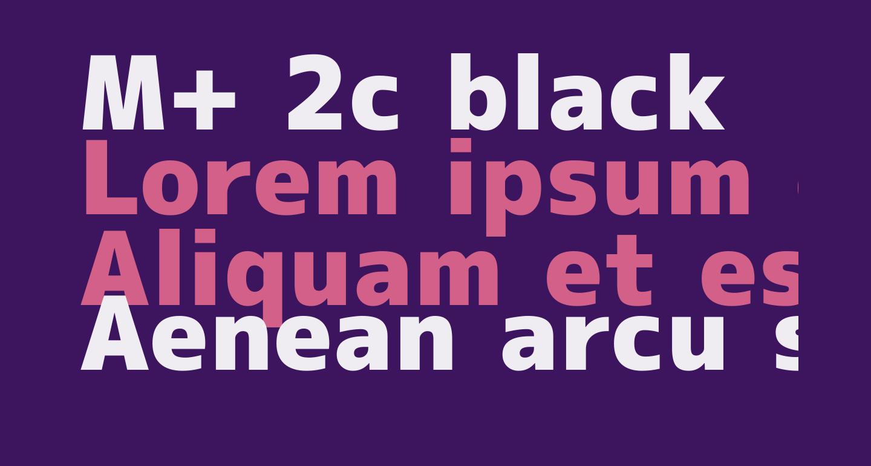 M+ 2c black