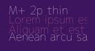 M+ 2p thin