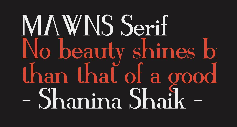 MAWNS Serif