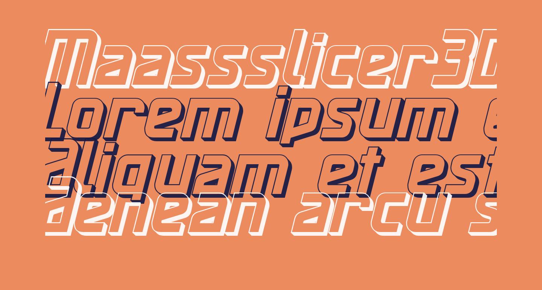 Maassslicer3D