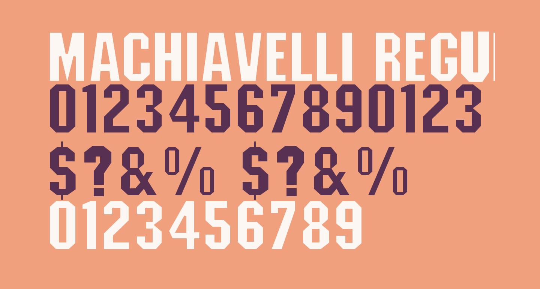 Machiavelli Regular