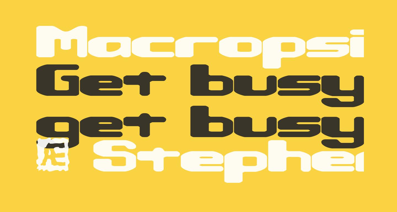 Macropsia BRK
