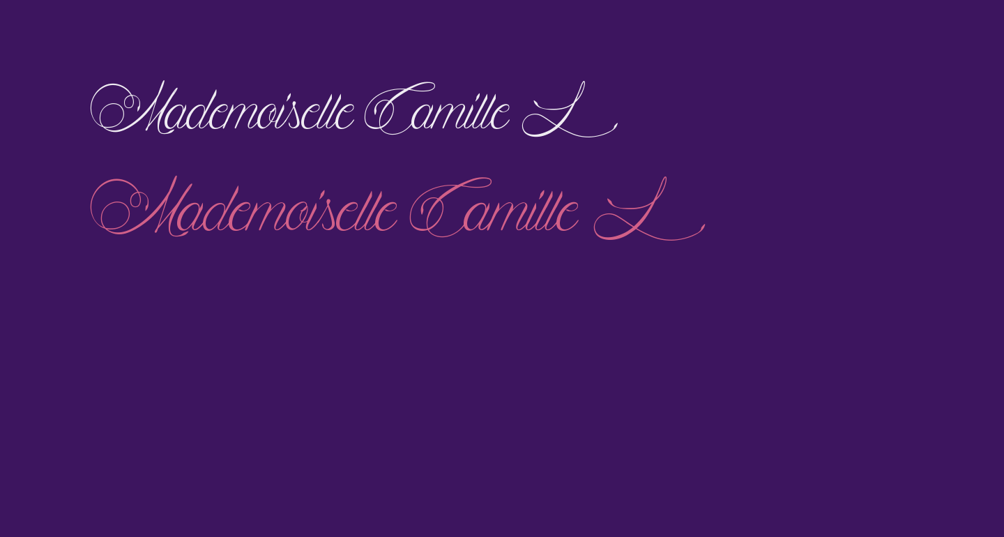 Mademoiselle Camille L