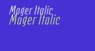 Mager Italic