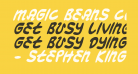 Magic Beans Condensed Italic