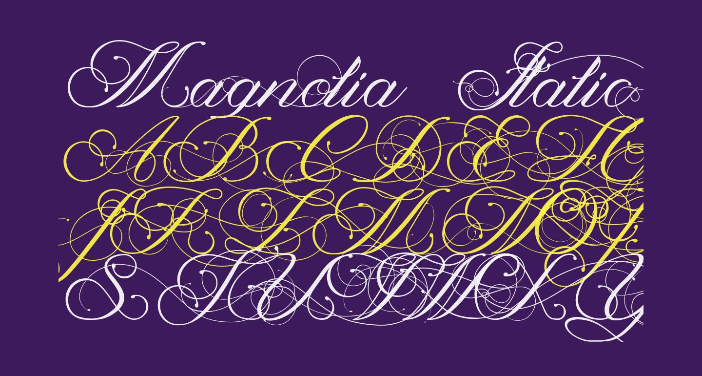 Magnolia  Italic