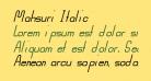 Mahsuri Italic