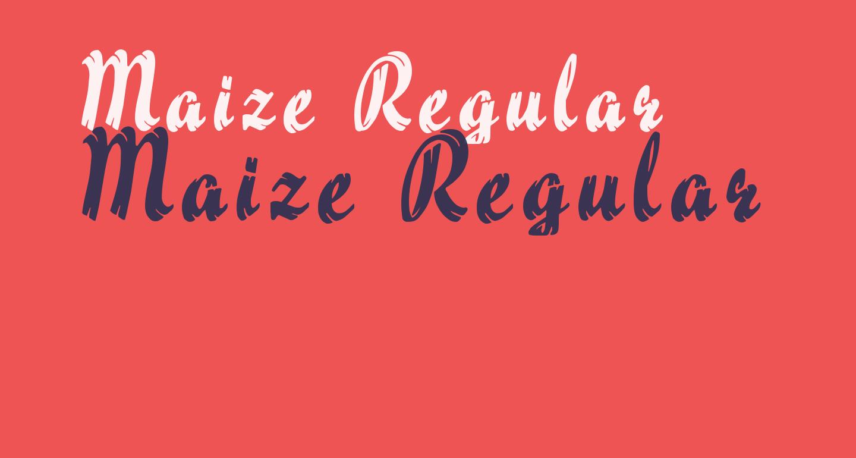 Maize Regular