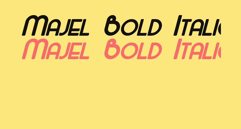Majel Bold Italic