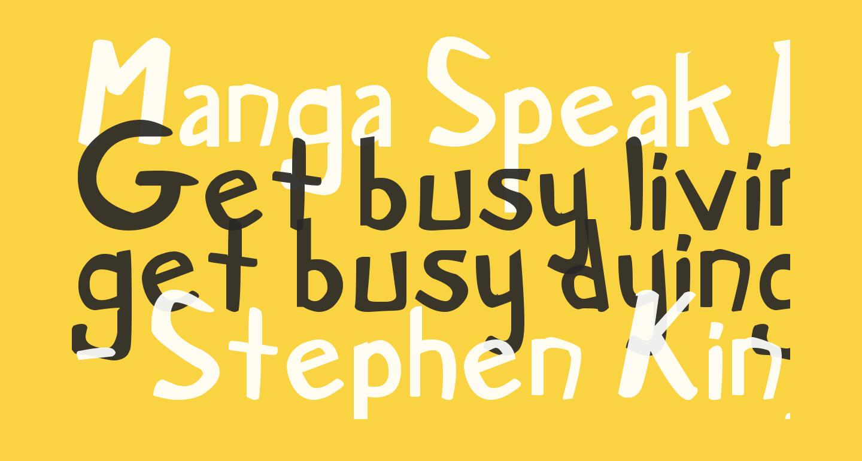 Manga Speak Bold