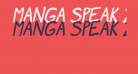 Manga speak 2 Bold