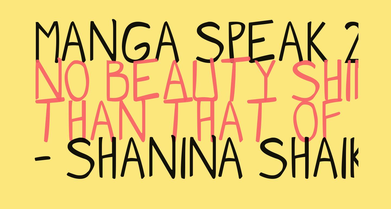 Manga speak 2