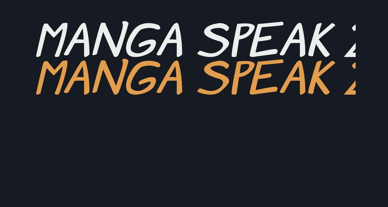 Manga speak 2 stocky Bold