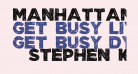 Manhattan Hand Bold All-Caps