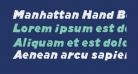 Manhattan Hand Bold Italic