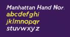 Manhattan Hand Normal Italic