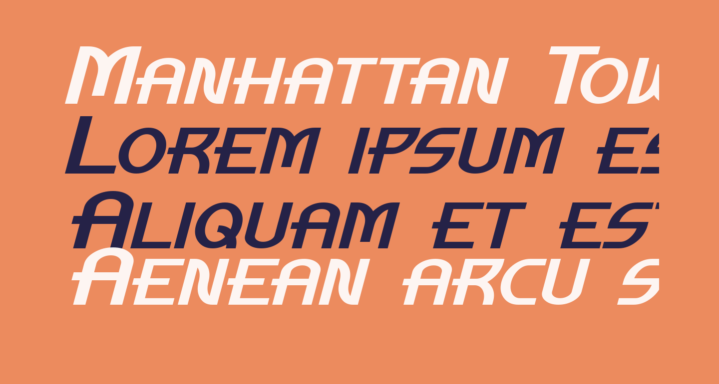 Manhattan Tower Italic