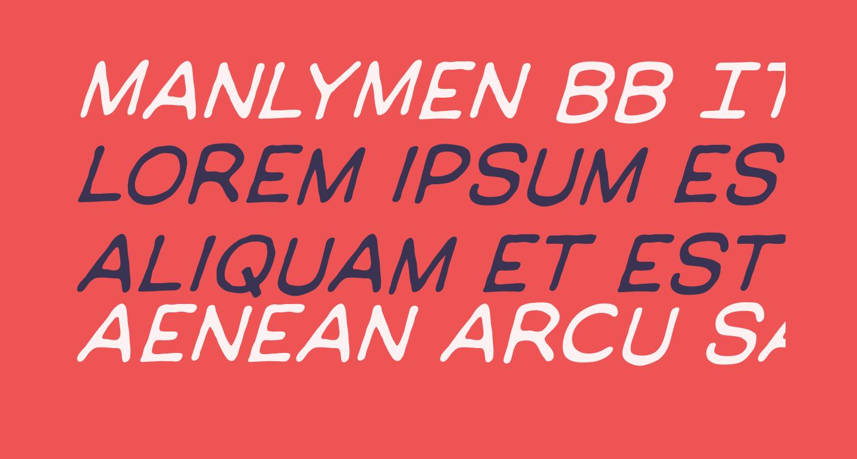 ManlyMen BB Italic