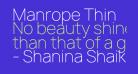 Manrope Thin