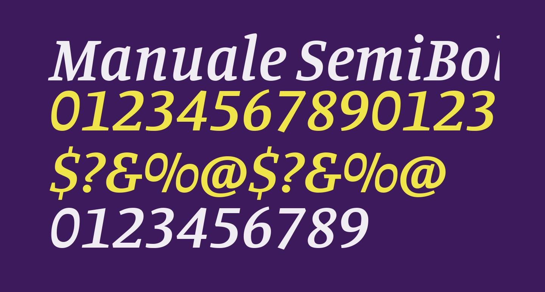 Manuale SemiBold Italic