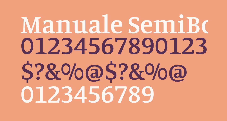 Manuale SemiBold