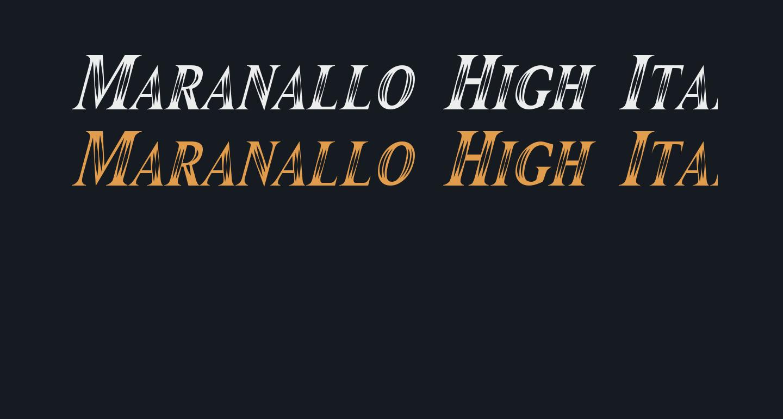 Maranallo High Italic