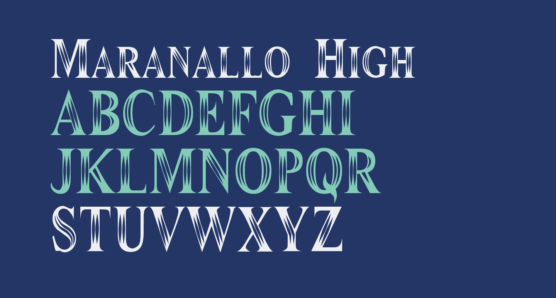 Maranallo High