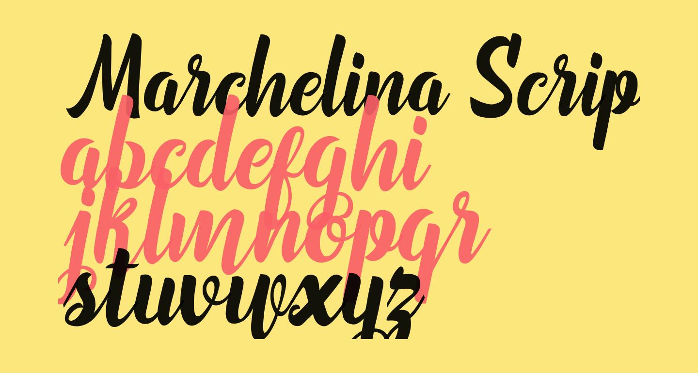 Marchelina Script by Cotbada Studio