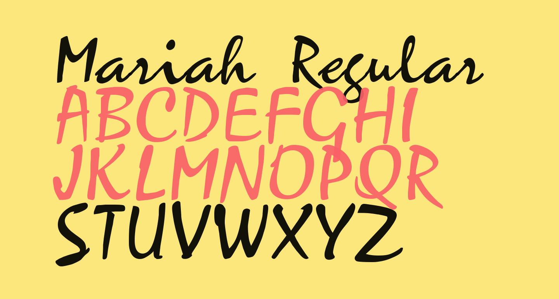 Mariah Regular