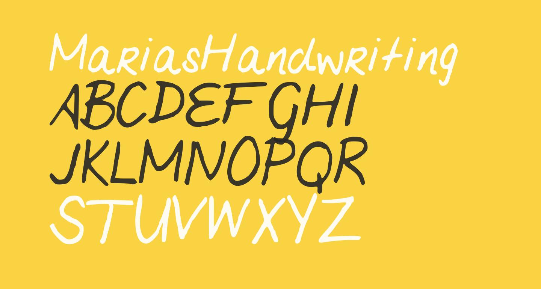 MariasHandwriting