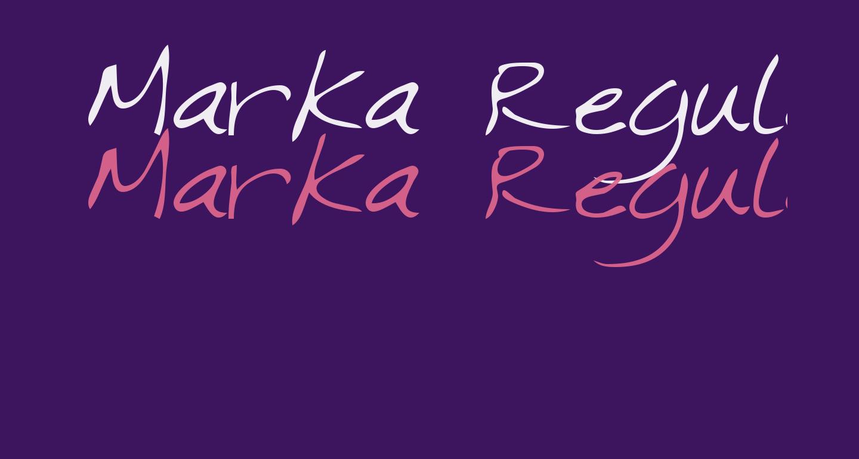 Marka Regular