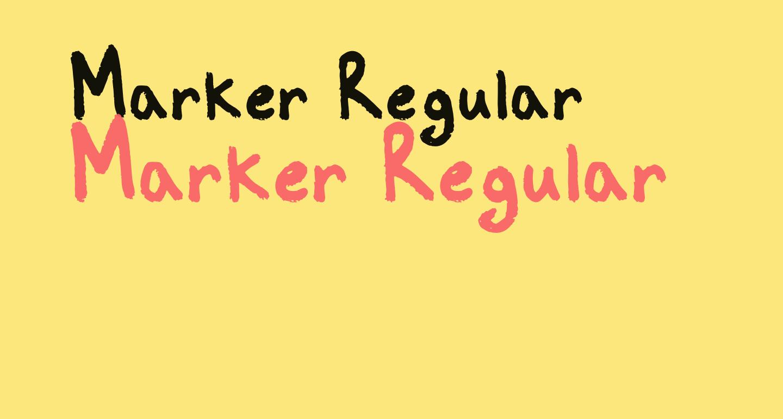 Marker Regular