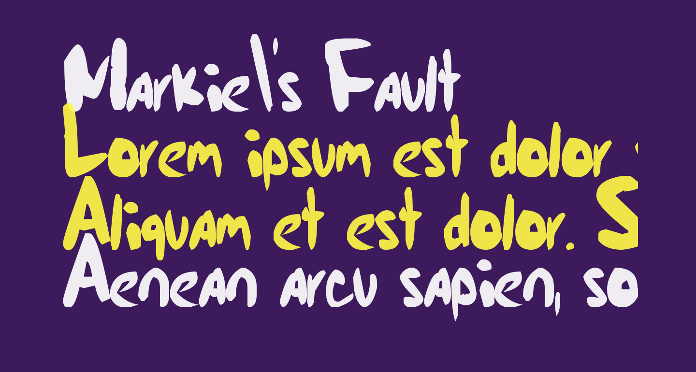 Markie's Fault
