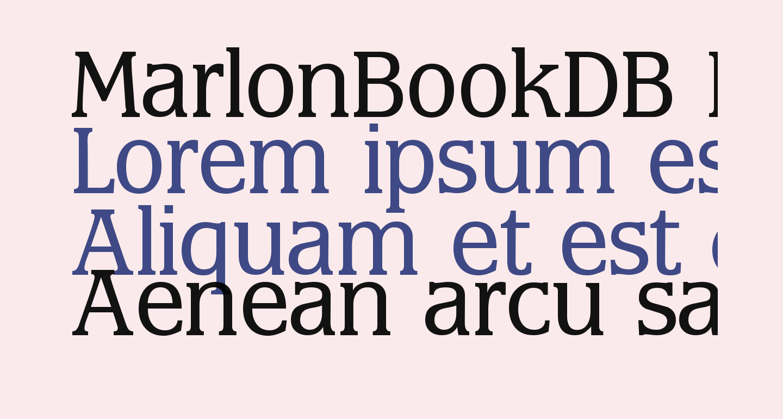 MarlonBookDB Normal