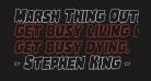 Marsh Thing Outline Italic