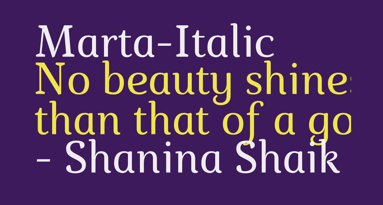 Marta-Italic