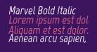 Marvel Bold Italic