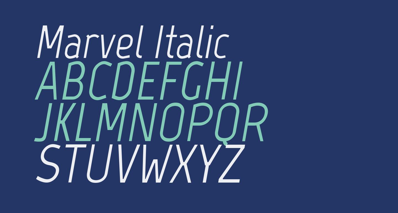 Marvel Italic