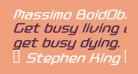 Massimo BoldOblique