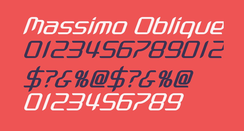 Massimo Oblique