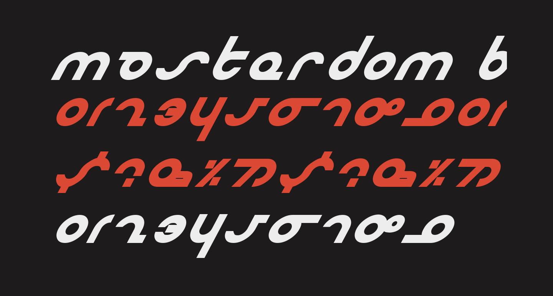 Masterdom Bold Italic