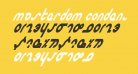 Masterdom Condensed Bold Italic