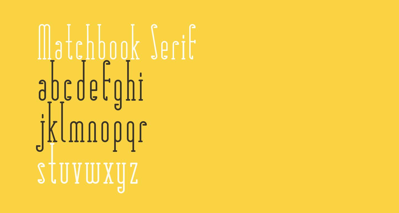 Matchbook Serif